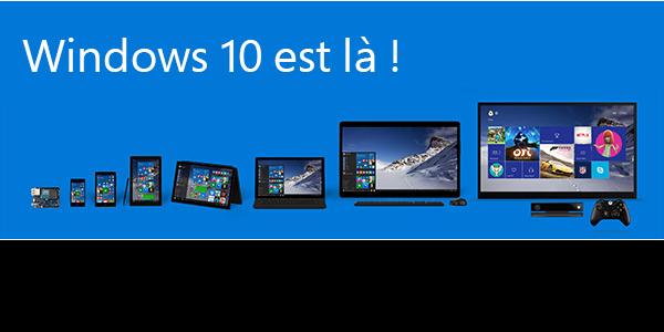 Windows 10 sortie le 29/07/2015